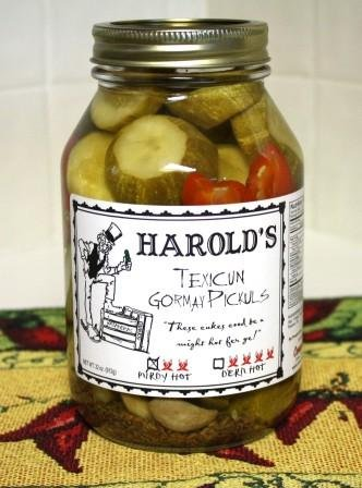 Harold's Spicy 2X Habanero Dill Pickle 32oz Quart (Dill Pickles Spicy)
