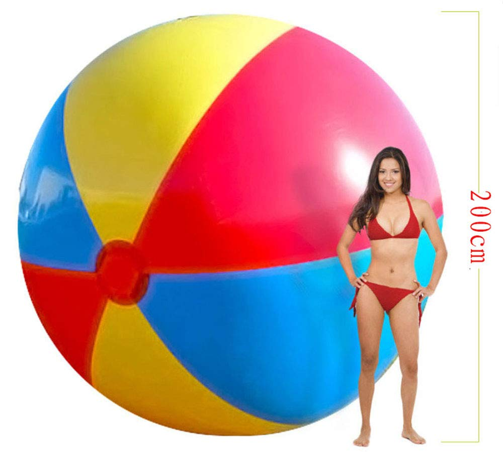 300CM YIAIY Oversized Inflatable Beach Ball, Water Games Outdoor Play Ball Water Toy Swimming Lounge Chair for Pool Lawn Party