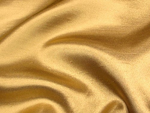 Shantung Satin Faux Silk Dupioni 60' Wide Fabric (Dark Gold STS-15)