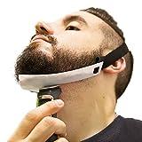 Beard Shaping Tool - FlexShaper Beard Neckline Guide - Hands-Free & Flexible - The Ultimate Neckline Beard Shaping Template (Patent Pending) (White) - Works w/ Beard Trimmer & Hair Clippers