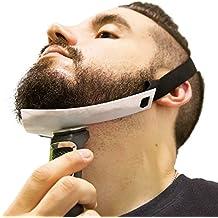 Aberlite Beard Shaper - FlexShaper Beard Neckline Guide - Hands-Free & Flexible - The Ultimate Neckline Beard Shaping Tool (Patent Pending)(White)- Beard Trimmer Guide - Beard Lineup Stencil