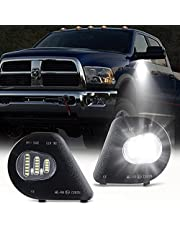 GemPro 2Pcs LED Side Mirror Puddle Light Lamps Assembly for 2010-2019 Dodge Ram 1500 2500 3500 4500 5500 Towing Mirror Lights, 6000K Diamond White
