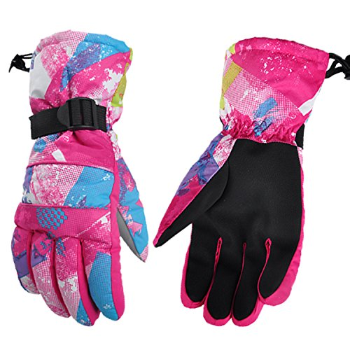 Pink Womens Snowboard Glove - UTOBEST Snowmobile Gloves-Ski and Snowboard Gloves for Women Waterproof Windproof Warmest Skiing Snowboarding Snow Gloves(pink,S)