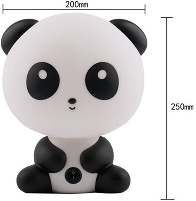 Lampada Da Tavolo Con Caricature A Forma Di Panda Per Bambini Diametro 20 Cm Amazon It Illuminazione