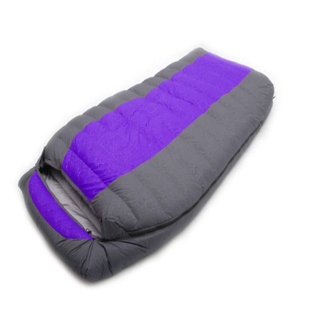 Durable,breathable,comfortableスリーピングバッグ、クイーンサイズダブルスリープサックエンベロープ暖かい通気性の睡眠バッグ暖かい充填、大人のための屋内屋外,Blue,1000g B07NZ8ZCFQ Purple 800g 800g Purple