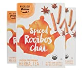 Wickedly Prime Organic Spiced Rooibos Chai Tea, Premium Herbal Tea Sachets, 15 Count (Pack of 3)