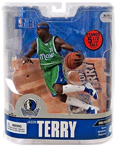Dallas Mavericks Nba Series - McFarlane Toys NBA Sports Picks Series 13 Action Figure Jason Terry (Dallas Mavericks) Green Jersey Variant