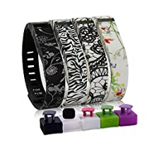 BBK Replacement Bands, Water Transfer Pattern, with Mental Clasps for Fitbit Flex Only, Fit Bit Sport Bracelet, Wristband, Arm Band