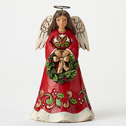 Jim Shore Heartwood Creek Pint/Angel Wreath Figurine