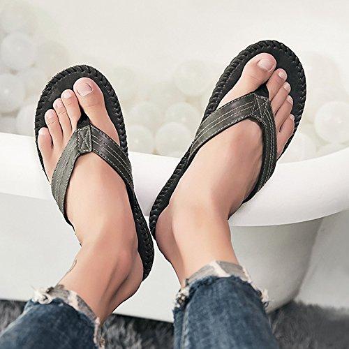 @Sandals Hausschuhe Im Sommer Outdoor Weichen Boden Antirutsch Antirutsch Antirutsch Flip Flops Herren Koreanischer Mode Legere Schuhe 25e0ec