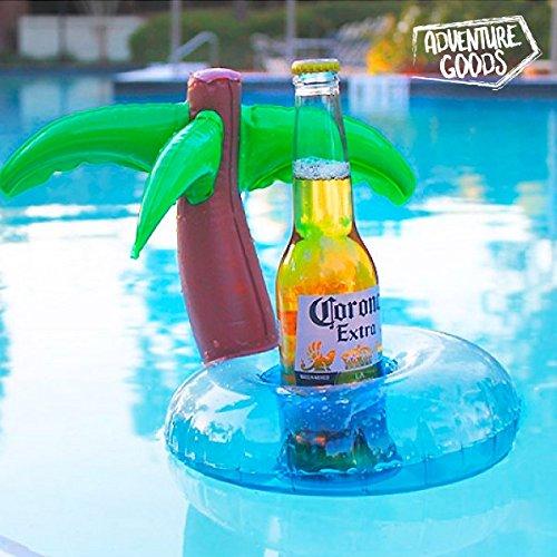 Soporte para bebidas hinchable Palmeras Pool Party: Amazon ...