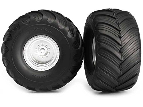 Monster Truck Tires >> Amazon Com Traxxas 3663 Monster Jam Tires And Wheels Assembled And