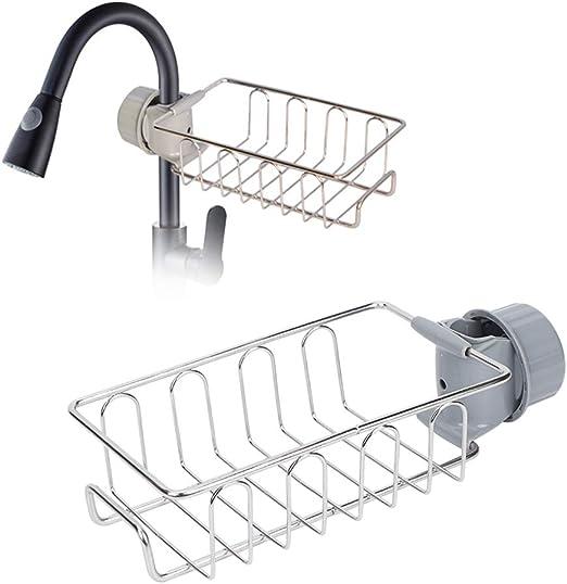 Soap Drying Rack Hand Bar Shower Holder Sink Drainer Sponge Organizer Non Slip