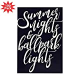 CafePress - Summer Nights And Ball - Rectangle Magnet (100 pack)