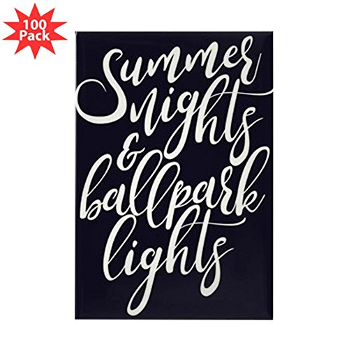 CafePress - Summer Nights And Ball - Rectangle Magnet (100 pack) by CafePress