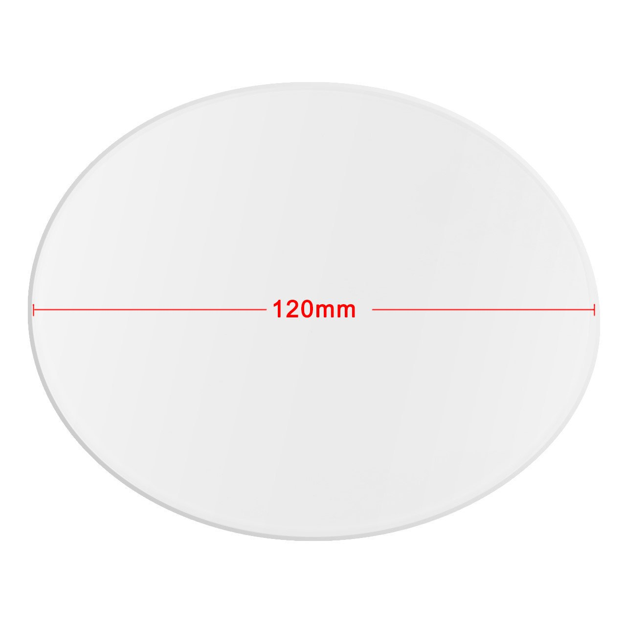 Wisamic Clear Borosilicate Glass Heat Bed Round 120mmx3mm for 3D Printers Mini Delta, etc