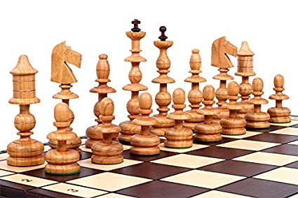 Good The Alcazar Chess Set   Unique Hand Crafted Wood Chess Pieces With A  5.5u0026quot; King