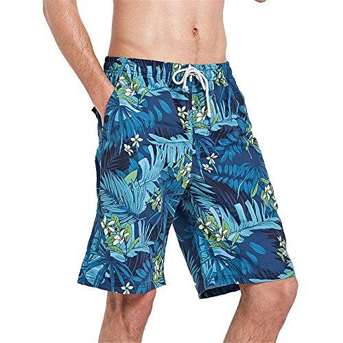 Deportes Pantalones Pant Para Playa De Con Fresca Natación Velocidad Hombre Estampado Cortos Hojas ff17qxPn