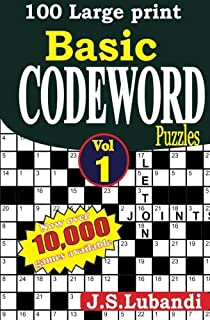 100 large print basic codeword puzzles volume 1