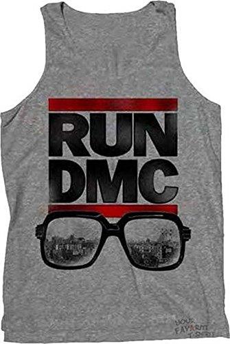Run DMC - City View Glasses Tank Top T-Shirt (Medium) (City View Shirt)