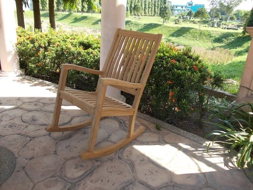 New Grade A Teak Wood Kingston Rocker / Rocking Arm Chair [Click to see more options…]