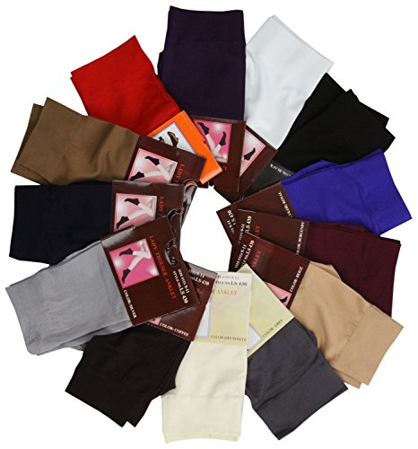 ToBeInStyle Womens Pack of 6 Trouser Solid Print Anklet Socks