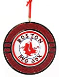 Boston Red Sox Baseball Medallion Christmas Ornament
