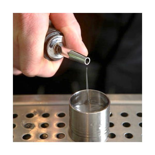 Sonline 5 Pz Chrome Tapered Freeflow bottiglia del liquore Cocktail versatori Spirito Oil 6 spesavip