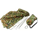 Classic Safari Camouflage Net - 6 1/2' x 10' - Comes with Nice Carrying Bag by BF Systems