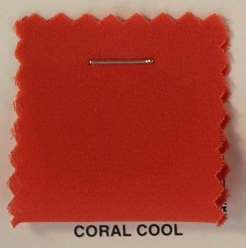 Double Georgette Fabric / Chiffon Dobby Fabric - CORAL COOL ()