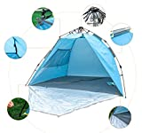 LAFAZ 2-3 Person Automatic Instant Easy Setup Beach Tent Cabana Anti UV Sun Shelter Lightweight Canopy
