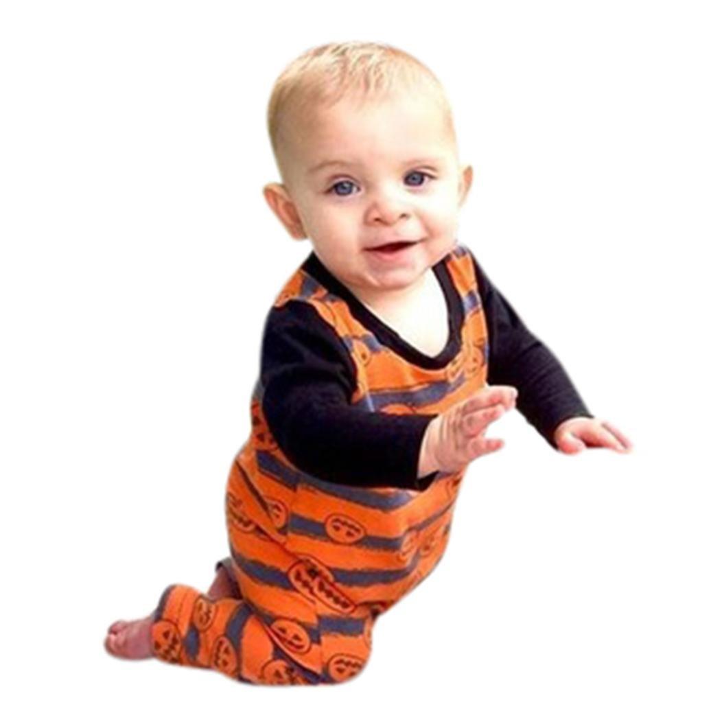 Recién nacido bebé Niños niña de Halloween calabaza Pelele ...
