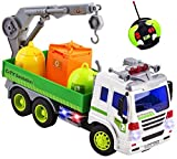 remote control 18 wheeler trucks - Remote Control Garbage Sanitation RC Truck 1:16 Four Channel Full Function w/ Lights Battery Powered RC Truck Toy
