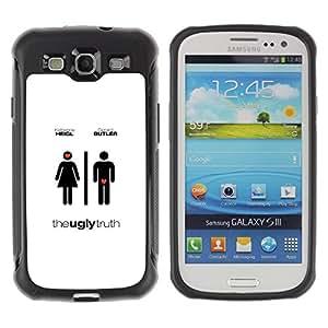 Fuerte Suave TPU GEL Caso Carcasa de Protección Funda para Samsung Galaxy S3 I9300 / Business Style Love Movie Men Women Different