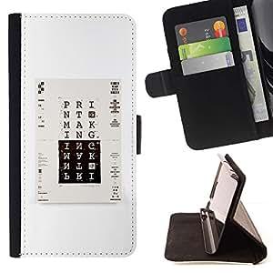 Momo Phone Case / Flip Funda de Cuero Case Cover - Imprimir cartel minimalista Blanco Negro - LG Nexus 5 D820 D821