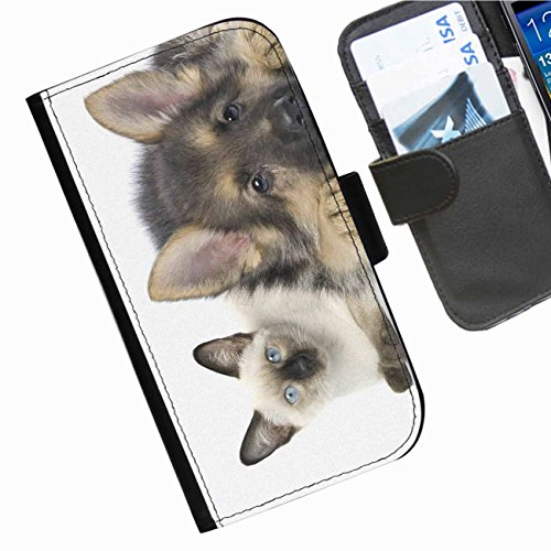 hairyworm-dogs-samsung-galaxy-avant-sm-g386t-leather-side-flip-wallet-cell-phone-case-cover