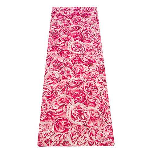 Luxury Sweat Grip Mat Towel: The Ella Combo Yoga Mat. Non-Slip, 2-in-1 Mat/Towel