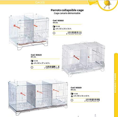 Jaula canarios desmontable 90 cm.: Amazon.es: Industria, empresas ...