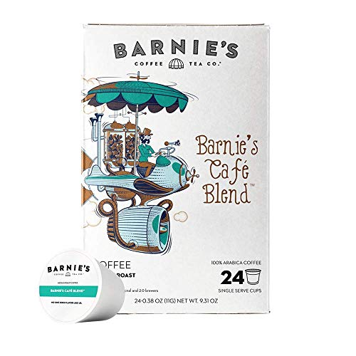 BARNIE'S COFFEE TEA CO., Kitchen Single Cup for Keurig K Cup Brewers 24 , Barnie's Blend, 24 Count