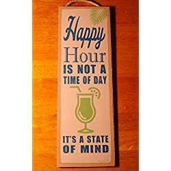 Happy Hour Is Not A Time Of Day Tiki Beach Bar Home Decor Large Sign