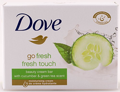 Dove Go Fresh Beauty Bar Soap, Cool Moisture-Fresh Touch, 100 G / 3.5 Oz (Pack of ()