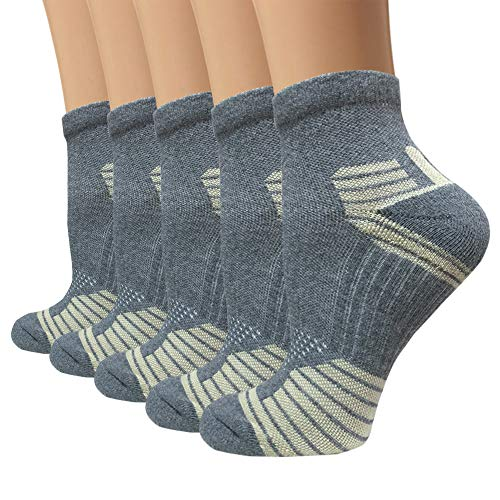 Copper Compression Running Socks For Men & Women-5/10 Pairs-Fit for Athletic,Travel& Medical (Best Way To Cut Copper)