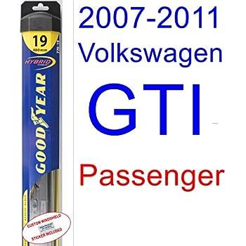 2007-2011 Volkswagen GTI Wiper Blade (Passenger) (Goodyear Wiper Blades-Hybrid) (2008,2009,2010)