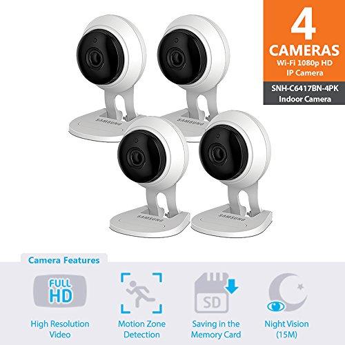 SNH-C6417BN - Samsung Wisenet SmartCam 1080p Full HD Plus Wi-Fi Camera Quad...