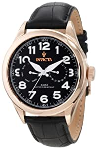 Invicta Men's 11742 Vintage Master Rose Gold-Tone Stainless Steel Watch with Black Leather Band