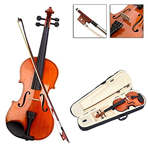 Full 4/4 Wood Acoustic Violin With Hand Carved High Gloss Finish And Case Bow Rosin TSE154A (Violin Practice Notebook)