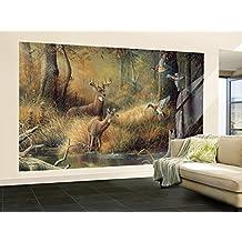 October Memories Deer Ducks Hunting Huge Wall Mural Art Print Poster - 99x164