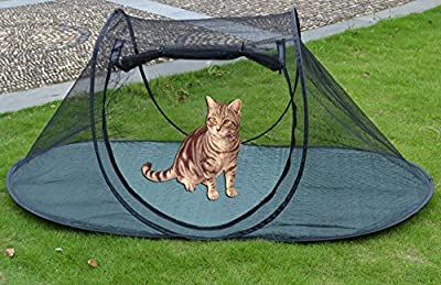 Strong Camel Pet Fun House Cat Dog Playpen Feline Funhouse Portable Exercise Tent with Carry Bag