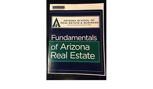 Fundamentals Of Arizona Real Estate Arizona School Of Real Estate