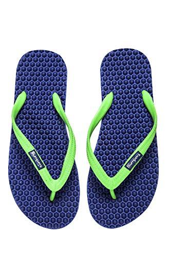 Bumpers Men's Massage Flip Flop (43-44 EU \10-11 US \ 29 cm, Navy & Green)